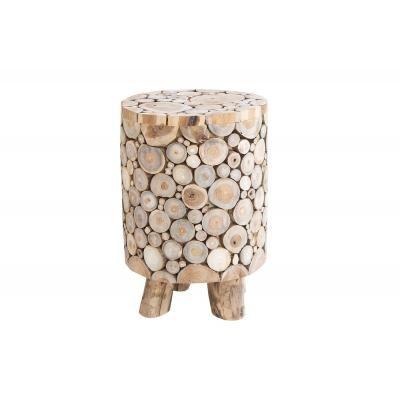 Tömörfa mozaik ülőke, natúr - CHALET